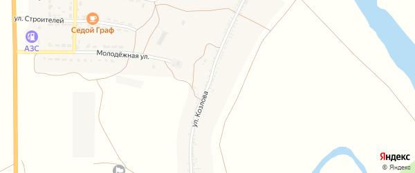 Улица Козлова на карте села Соленого Займища с номерами домов
