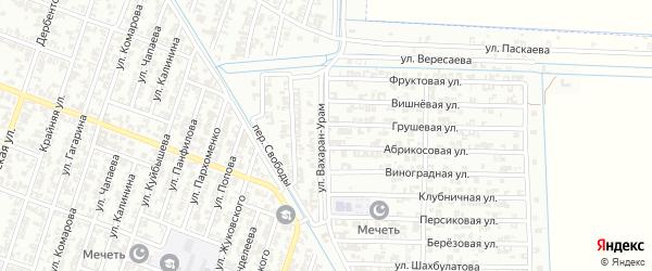 Спортивная улица на карте Гудермеса с номерами домов