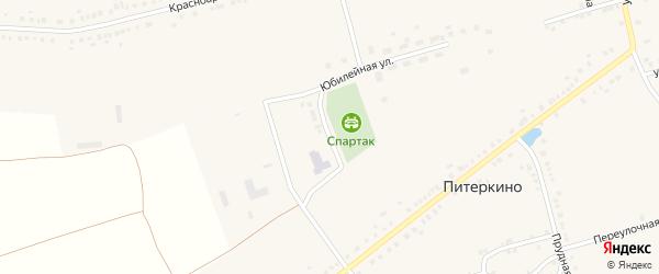Школьная улица на карте деревни Питеркино с номерами домов