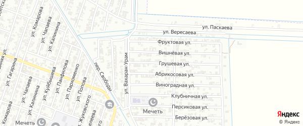 Абрикосовая улица на карте Гудермеса с номерами домов