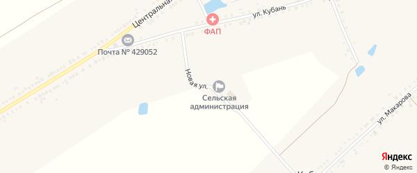 Новая улица на карте деревни Питеркино с номерами домов