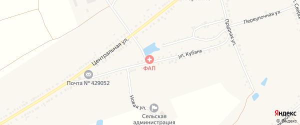 Улица Кубань на карте деревни Питеркино с номерами домов