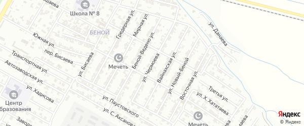 Улица Чермоева на карте села Бильтой-юрт с номерами домов