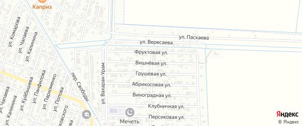Вишневая улица на карте Гудермеса с номерами домов