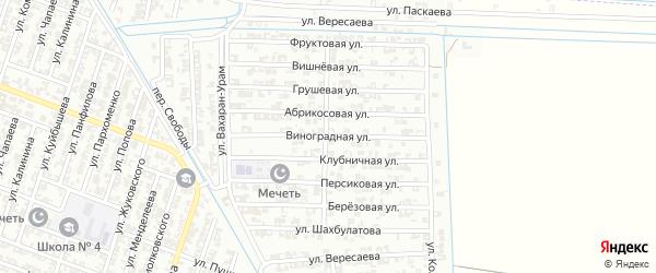 Виноградная улица на карте Гудермеса с номерами домов