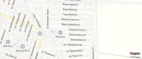 Клубничная улица на карте Гудермеса с номерами домов