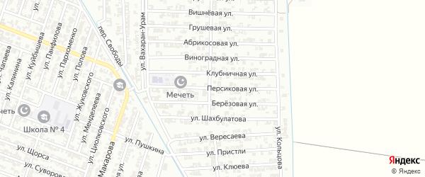 Персиковая улица на карте Гудермеса с номерами домов