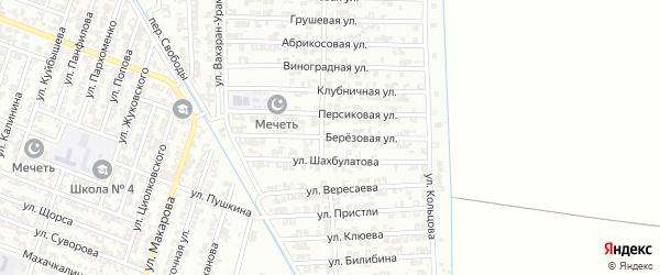 Березовая улица на карте Гудермеса с номерами домов