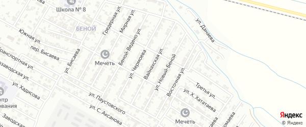 Вайнахская улица на карте Гудермеса с номерами домов