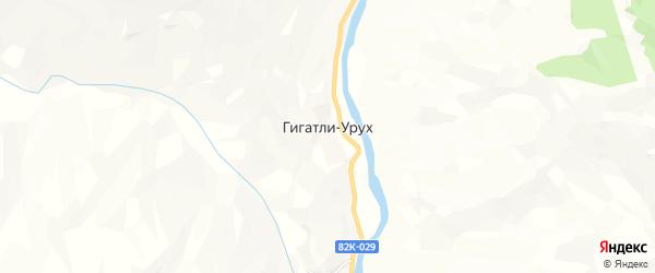 Карта села Гигатли-Уруха в Дагестане с улицами и номерами домов