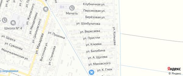 Улица Пристли на карте Гудермеса с номерами домов