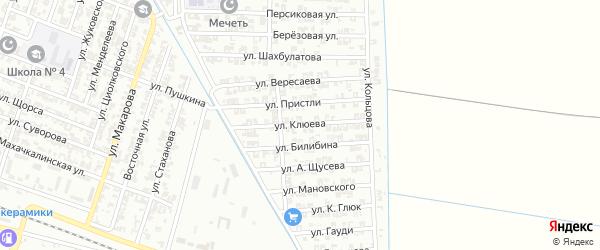 Улица Клюева на карте Гудермеса с номерами домов