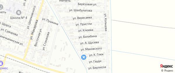 Улица Билибина на карте Гудермеса с номерами домов