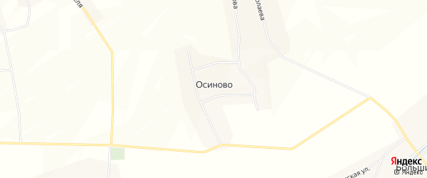 Карта деревни Осиново в Чувашии с улицами и номерами домов