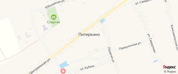 Улица Шоголь на карте деревни Питеркино с номерами домов