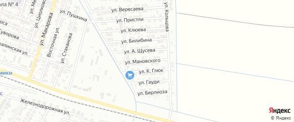 Улица Мановского на карте Гудермеса с номерами домов