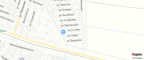 Улица К.Глюк на карте Гудермеса с номерами домов