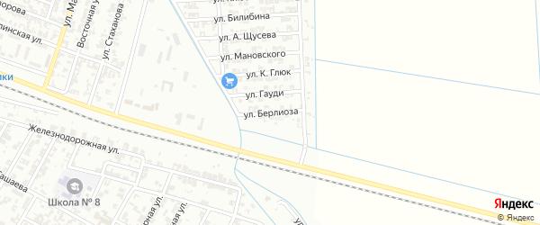 Переулок Берлиоза на карте Гудермеса с номерами домов