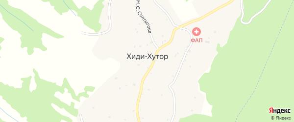 Восточная улица на карте села Хиди-Хутора с номерами домов
