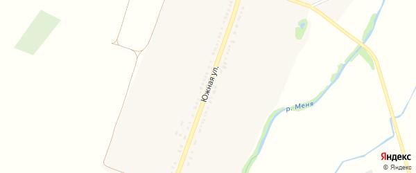 Южная улица на карте села Мишуково с номерами домов