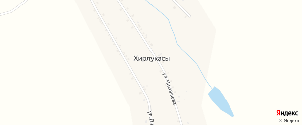 Улица А.Г.Николаева на карте деревни Хирлукасы с номерами домов