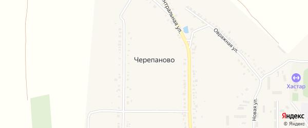 Овражная улица на карте деревни Черепаново с номерами домов