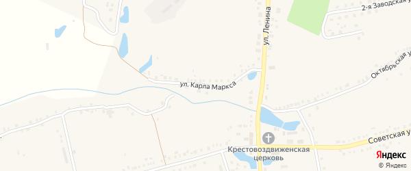 Улица К.Маркса на карте села Красные Четаи с номерами домов