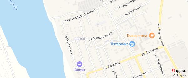 Улица Челюскинцев на карте Ахтубинска с номерами домов