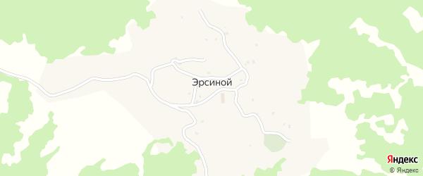 Улица Мухадиева С. на карте села Эрсиной с номерами домов