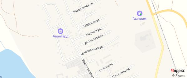 Улица Гонтарева на карте Ахтубинска с номерами домов