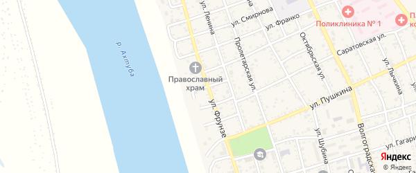 Переулок Фрунзе на карте Ахтубинска с номерами домов