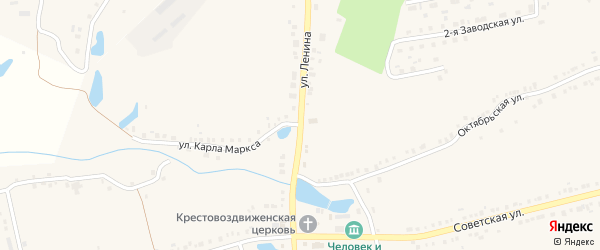 Улица Ленина на карте села Красные Четаи с номерами домов