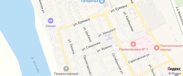 Улица Урицкого на карте Ахтубинска с номерами домов