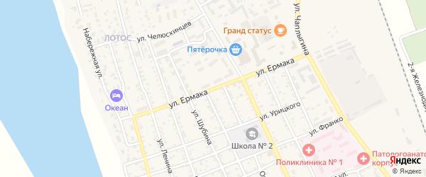 Улица Ермака на карте Ахтубинска с номерами домов