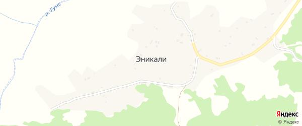Школьная улица на карте села Эникали с номерами домов