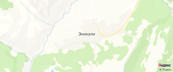 Карта села Эникали в Чечне с улицами и номерами домов