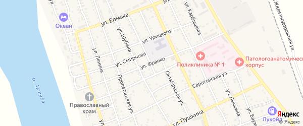 Улица Франко на карте Ахтубинска с номерами домов