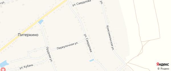 Улица Свердлова на карте деревни Питеркино с номерами домов