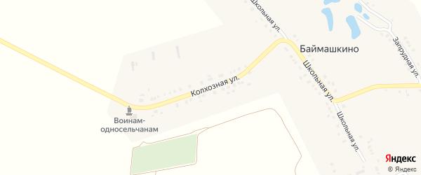 Колхозная улица на карте села Баймашкино с номерами домов