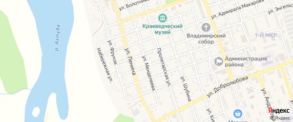 Улица Менделеева на карте Ахтубинска с номерами домов
