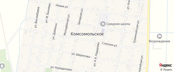 Улица Р.Ахматовой на карте Комсомольского села с номерами домов