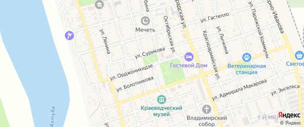 Улица Шубина на карте Ахтубинска с номерами домов