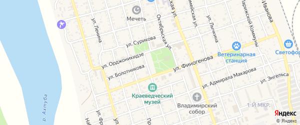 Площадь Победы на карте Ахтубинска с номерами домов