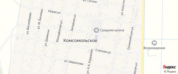 Улица Х.Зелимхана на карте Комсомольского села с номерами домов