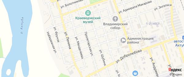 Улица Мусоргского на карте Ахтубинска с номерами домов