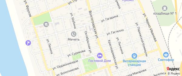 Улица Гастелло на карте Ахтубинска с номерами домов