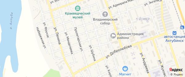 Улица Панфилова на карте Ахтубинска с номерами домов