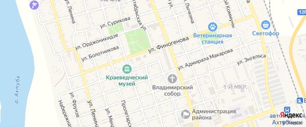 Народная улица на карте Ахтубинска с номерами домов