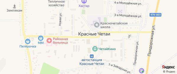 Новая улица на карте села Красные Четаи с номерами домов