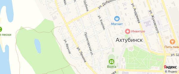 Улица Димитрова на карте Ахтубинска с номерами домов